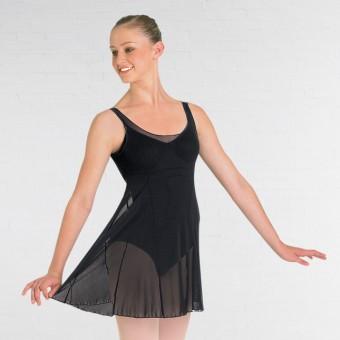 Bloch Emerge Ladies Panelled Black Mesh Dress