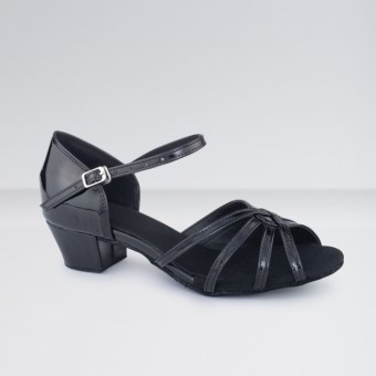 1st Position Leather Low Heeled Ballroom Shoes