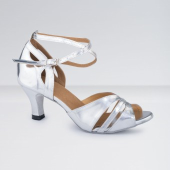 1st Position Leather Buckle Fastening Ballroom Shoes