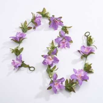 Artificial Flower Garland - Purple (1m approx)