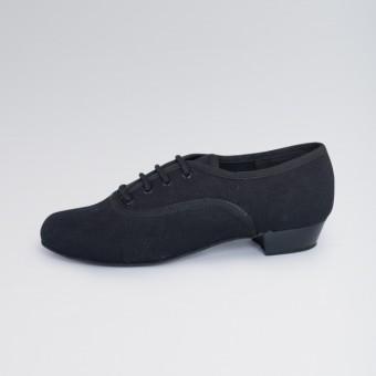 1st Position - Zapatos Oxford de Lona con Tacón Bajo