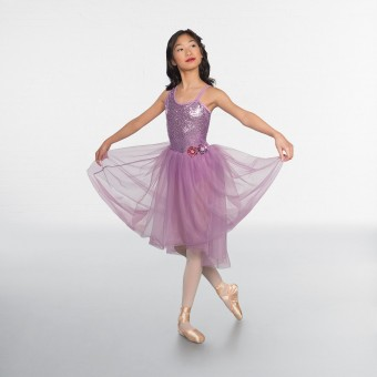 1st Position Sequin Bodice Dipped Hem Ballet Dress