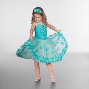 1st Position Glitter Skirted Flower Ballet Dress