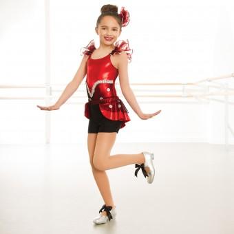 1st Position Glitter Polka Dot Peplum Shorts