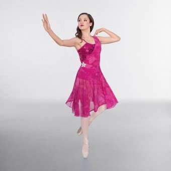1st Position Sequin Tie Dye Overlay Lyrical Dress