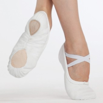 Capezio Pro Canvas Ballet Shoe White