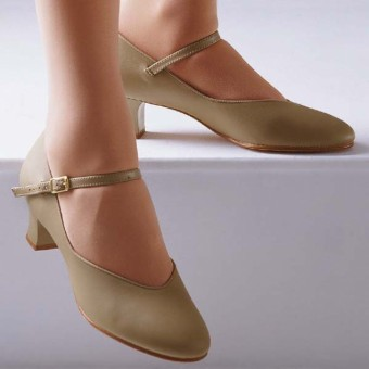 Capezio Junior Footlight Shoes (Tan)