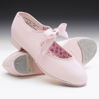 Capezio Jr. Tyette Tap Shoes (Pink)