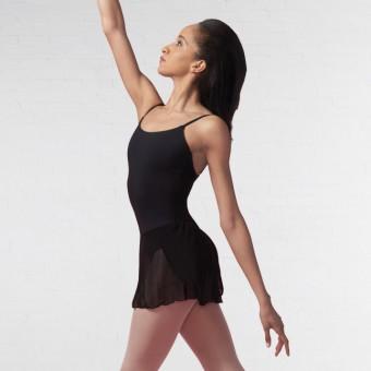 Capezio Meryl Kleid mit angenähtem Wickelröckchen für Erwachsene (Black)