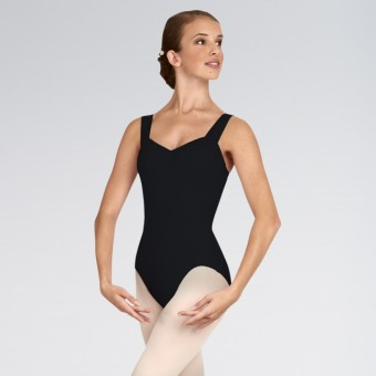 Capezio Tactel Wide Strap Leotard Black  Adult Small