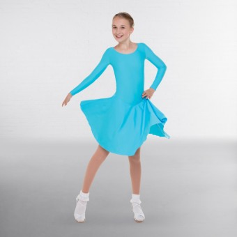 1st Position Practice Ballroom Dress (Aqua)