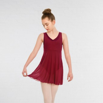 1st Position Mesh Dress (Burgundy)
