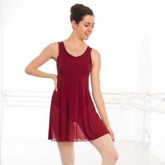 1st Position Mesh Dress (Burgundy)