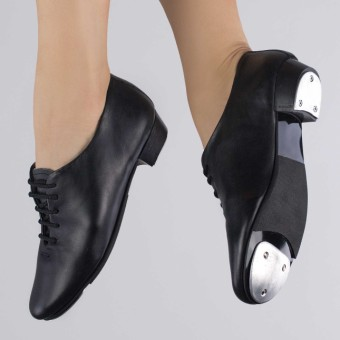 1st Position Junior Leather Lace Up Tap Shoe