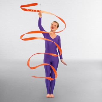 Gymnastic Ribbon W/Wand (Orange)