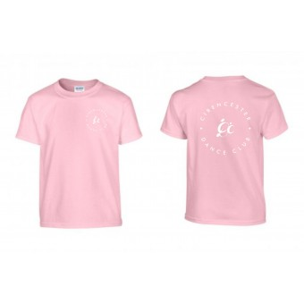 PP *#125#* Child T-Shirt (Light Pink) with Cirencester Dance Club Logo