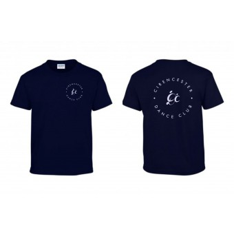 PP *#191009#* Heavy Cotton T-Shirt (Navy Blue) with Cirencester Dance Club Logo