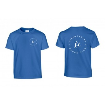 PP *#127#* Child T-Shirt (Royal Blue) with Cirencester Dance Club Logo