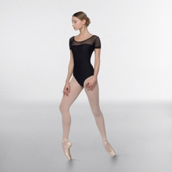 Grishko Mesh Yoke Short Sleeve Leotard