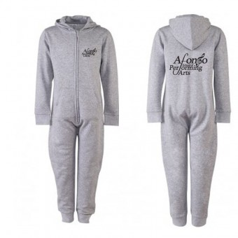 SF Minni Kids All In One (Heather) with Afonso School of Performing Arts Logo