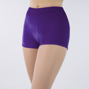 1st Position Jenna Stretch Velour Shorts (Purple)