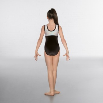 1st Position Taylor Velour / Hologram Sleeveless Leotard (Black/Silver)