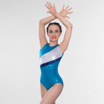 1st Position Michelle Sleeveless Leotard (Turquoise)