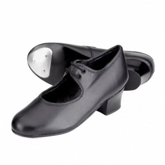 1st Position Leather Cuban Heel Tap Shoes