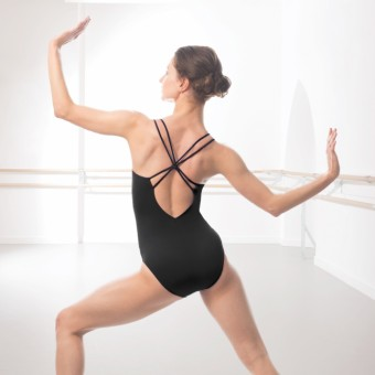 Intermezzo Knot Back Leotard (Black)