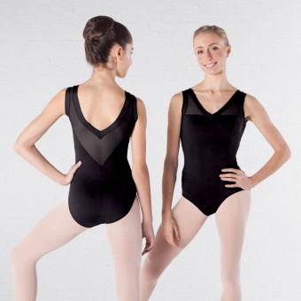 Intermezzo Bodyuvered V Front and Back Mesh Leotard