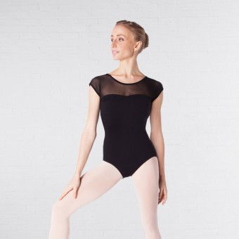 Intermezzo Bodydamred Cap Sleeved Mesh Leotard