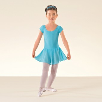 ISTD Ballet Pre Primary, Primary -Grade 1 Voile Skirted Cap Sleeve Leotard (Aqua)