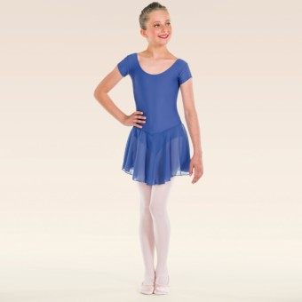 ISTD Ballet Pre Primary, Primary -Grade 1 Voile Skirted Cap Sleeve Leotard (Bluebell)