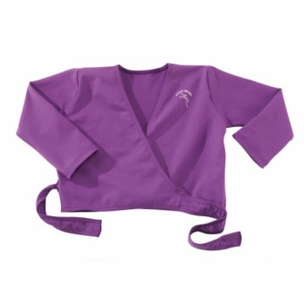 Junior Ballet Purple Wrapover Cardigan