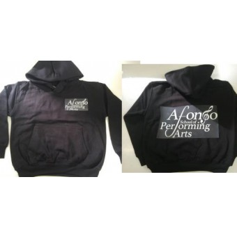 AWDis Kids Hoodie (Black) with Afonso School of Performing Arts Logo
