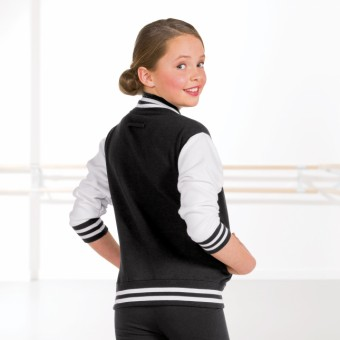 Unisex College-Jacke (Black/White)