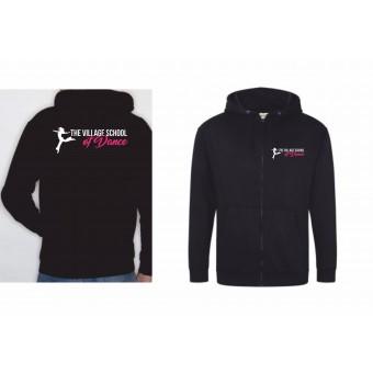 PP *#101001#* Unisex Hoodie (Black) with The Village School Of Dance Logo
