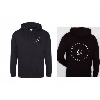 PP *#191008#* Unisex Hoodie (Black) with Cirencester Dance Club Logo