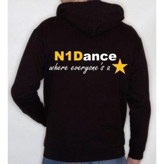 PP *#041041#* Child Hoodie (Black) with N1 Dance Logo