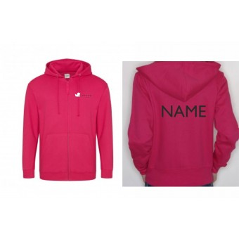PP *#12346#* Unisex Hoodie (Hot Pink) with Duckegg Theatre Company Logo + name