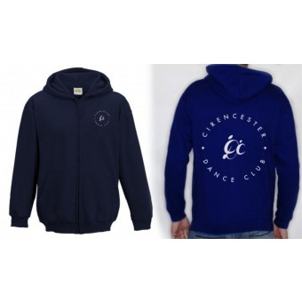 PP *#191007#* Unisex Hoodie (New French Navy) with Cirencester Dance Club Logo