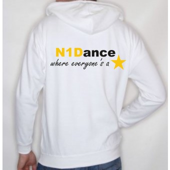 PP *#041037#* Unisex Hoodie (White) with N1 Dance Logo