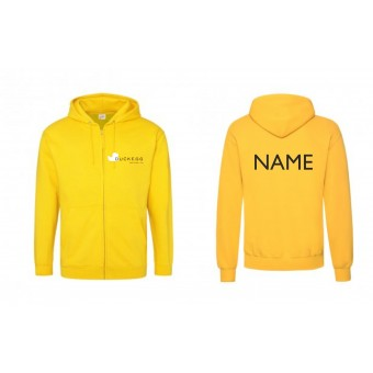 PP *#180712#* Unisex Hoodie (Yellow) with Duckegg Theatre Company Logo WITH NAME