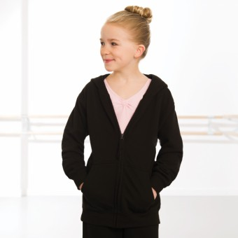 Kinder Kapuzenjacke (Black)
