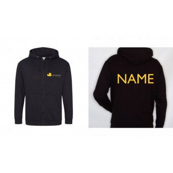 PP *#6435243#* Child Hoodie (Black) with Duckegg Theatre Company Logo + name