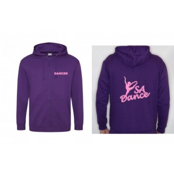 PP *#170111#* Child Hoodie (Purple) with S A Dance Logo