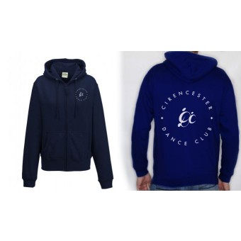 PP *#2#* Ladies Fitted Hoodie (New French Navy) with Cirencester Dance Club Logo