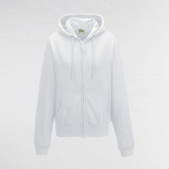 Ladies Fitted Hoodie (White)