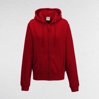 Ladies Fitted Hoodie (Red)