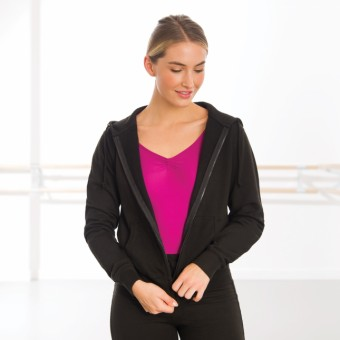 Ladies Kapuzenjacke tailliert (Black)
